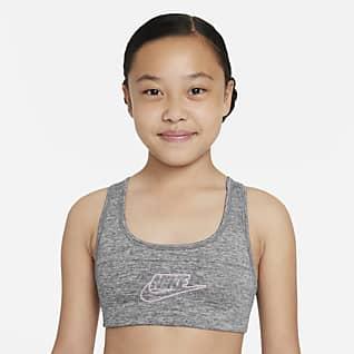 Nike Dri-FIT Swoosh Big Kids' (Girls') Sports Bra
