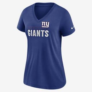Nike Logo (NFL New York Giants) Women's Mid V-Neck T-Shirt