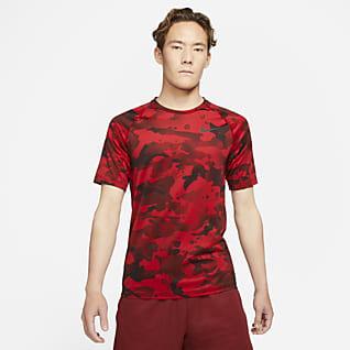 Nike Pro Men's Short-Sleeve Camo Top