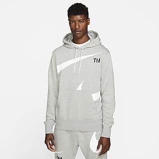 Nike Sportswear Swoosh Ανδρικό φλις φούτερ με ελαφρώς χνουδωτή υφή στο εσωτερικό