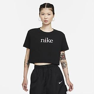 Nike Sportswear เสื้อเอวลอยแขนสั้นผู้หญิง