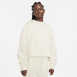 Nike Sportswear Essential 女子起绒圆领上衣