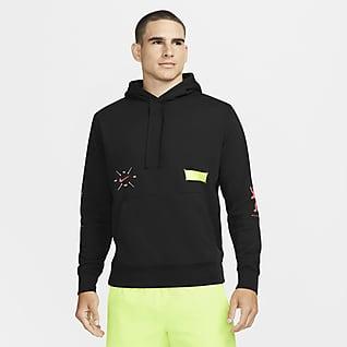 Nike Berlin Club Fleece Kapucnis, belebujós férfipulóver futáshoz