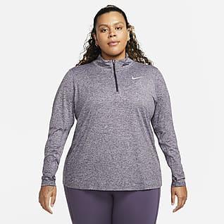 Nike Top da running con zip a metà lunghezza (Plus size) - Donna