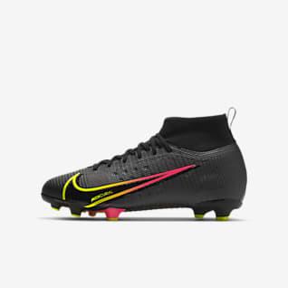 Nike Jr. Mercurial Superfly 8 Pro FG Chuteiras de futebol para terreno firme para criança/Júnior
