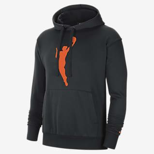 WNBA Essential Sudadera con gorro sin cierre de tejido Fleece para hombre Nike