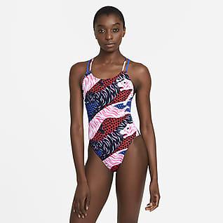 Nike HydraStrong Jednoczęściowy damski kostium kąpielowy z ramiączkami krzyżowanymi na plecach