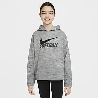 Nike Therma Sudadera con capucha de softball para niñas talla grande