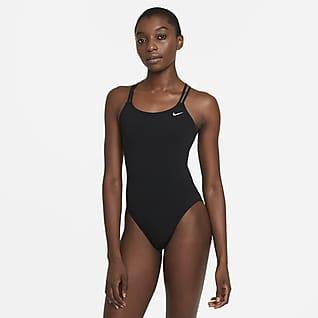 Nike HydraStrong Solid Einteiliger Damen-Badeanzug mit Spiderback-Design
