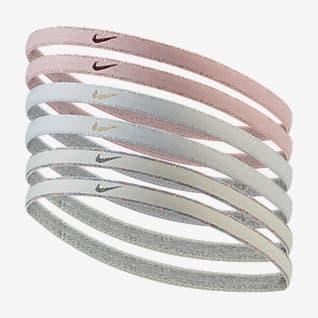 Nike Swoosh Sport Hårband i metallic (6-pack)