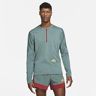 Nike Dri-FIT Rövid cipzáras férfifelső terepfutáshoz