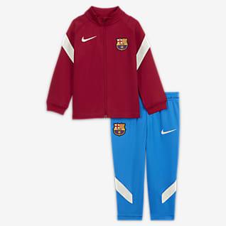 FC Barcelona Strike Nike Knit voetbaltrainingspak met Dri-FIT voor baby's/peuters
