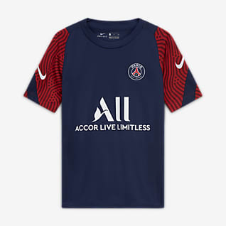 Paris Saint-Germain Strike Older Kids' Short-Sleeve Football Top
