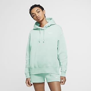 Nike Sportswear Kapucnis női polárpulóver