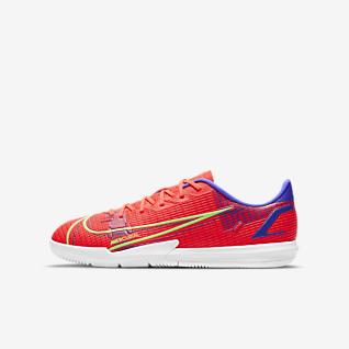 Nike Jr. Mercurial Vapor 14 Academy IC Zaalvoetbalschoen voor kleuters/kids