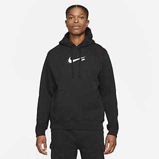 Nike Sportswear Court Felpa pullover in fleece con cappuccio - Uomo