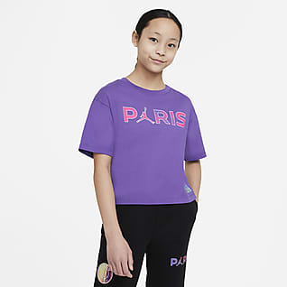 Paris Saint-Germain T-shirt dla dużych dzieci (dziewcząt)