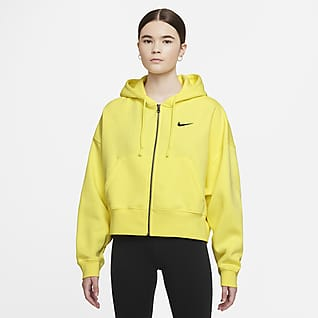 Nike Sportswear Essential Γυναικεία φλις μπλούζα με κουκούλα και φερμουάρ