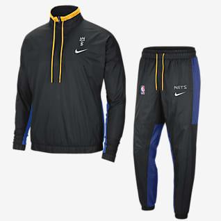 Brooklyn Nets City Edition Courtside Conjunto de entrenamiento Nike NBA para hombre