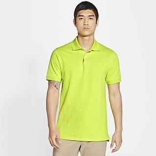 The Nike Polo Karcsúsított fazonú, mintás, galléros férfipóló