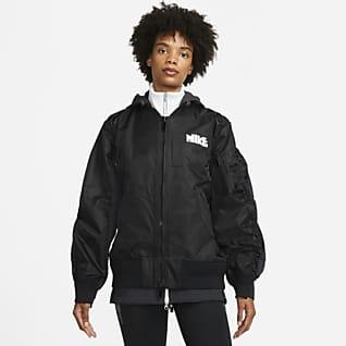 Nike x sacai เสื้อแจ็คเก็ตผู้หญิง