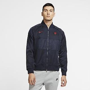 马德里竞技 男子缎质足球夹克