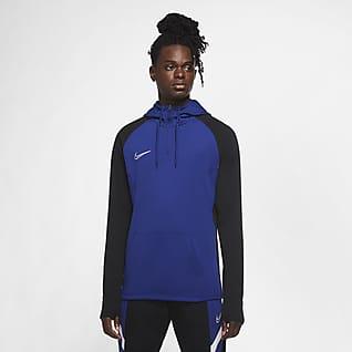 Nike Dri-FIT Academy Felpa da calcio per allenamento con cappuccio e zip a 1/4 - Uomo