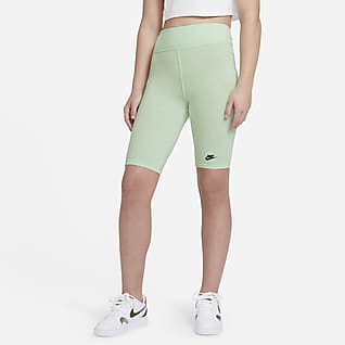 "Nike Sportswear Big Kids' (Girls') High-Rise 9"" Bike Shorts"