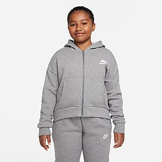 Nike Sportswear Club Fleece Sweat à capuche et à zip pour Fille plus âgée (grande taille)