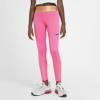 Nike Pro Warm Mallas de entrenamiento para niñas talla grande