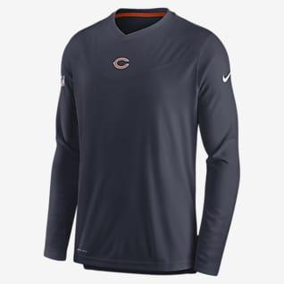 Nike Dri-FIT Sideline Coaches (NFL Chicago Bears) Men's Long-Sleeve V-Neck T-Shirt