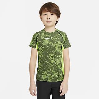 Nike Pro Parte superior de entrenamiento estampada para niños talla grande