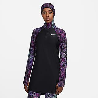 Nike Victory Schwimm-Tunika mit durchgehendem Schutz für Damen