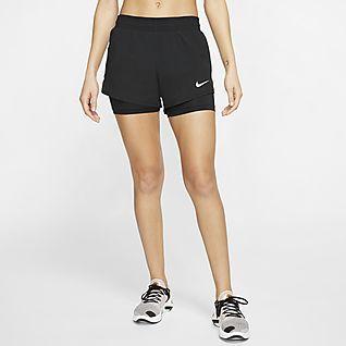 Nike กางเกงวิ่งขาสั้น 2-In-1 ผู้หญิง