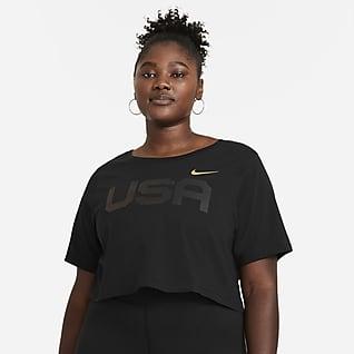 Nike Sportswear Playera corta para mujer (talla grande) USA