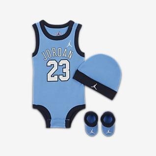 Jordan Baby (6-12M) Bodysuit, Hat and Booties Box Set