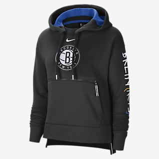 Brooklyn Nets City Edition Courtside Women's Nike NBA Pullover Hoodie