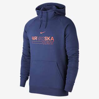 Croatia Men's Fleece Pullover Football Hoodie