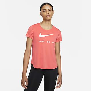 Nike Camiseta de running de manga corta para mujer