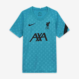 Liverpool FC Kısa Kollu Genç Çocuk Maç Öncesi Futbol Forması