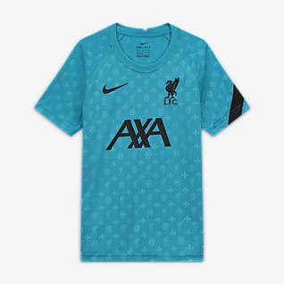 Liverpool FC Przedmeczowa koszulka piłkarska z krótkim rękawem dla dużych dzieci