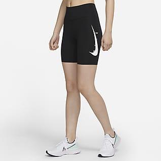 "Nike Swoosh Run 7"" 女子跑步紧身短裤"