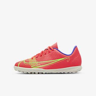 Nike Jr. Mercurial Vapor 14 Club TF Calzado de fútbol para césped deportivo para niños talla pequeña/grande