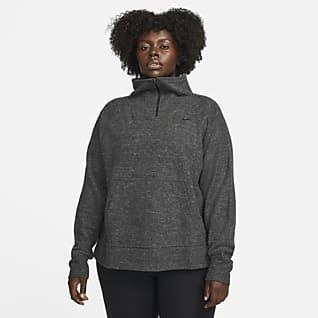 Nike Therma-FIT Playera de entrenamiento de medio cierre para mujer (talla grande)