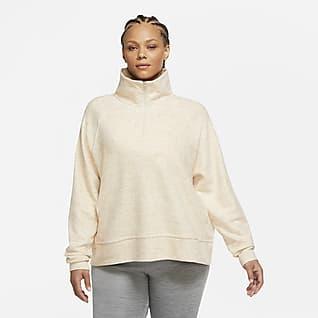 Nike Therma Prenda para la parte superior de entrenamiento de tejido Fleece con 1/2 cierre para mujer (talla grande)