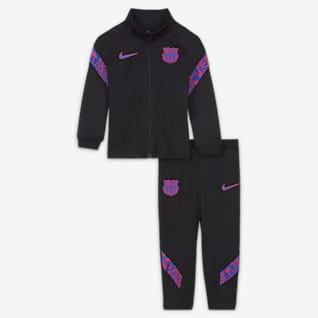 FCBarcelona Strike Survêtement de football en maille Nike Dri-FIT pour Bébé/Petit enfant