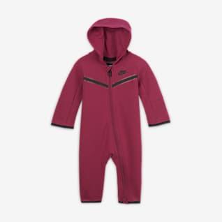 Nike Sportswear Tech Fleece Hosszú cipzáras rugdalózó babáknak (0-9 hónapos)