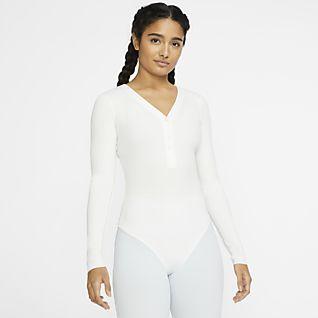 Nike Yoga Luxe Infinalon Langarm-Bodysuit für Damen