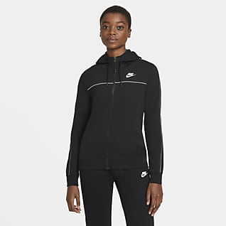 Nike Sportswear Tam Boy Fermuarlı Kadın Kapüşonlu Üst