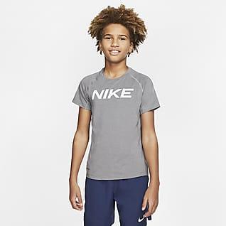 Nike Pro Prenda para la parte superior de entrenamiento de manga corta para niño talla grande
